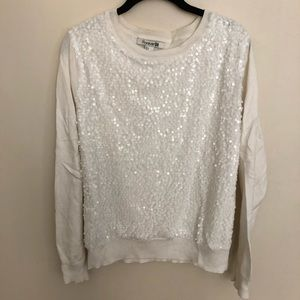 Festive Sequined Sweater